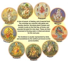 nine incarnations of Durga