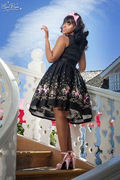 Aurora Dress in Dancing Horses Print
