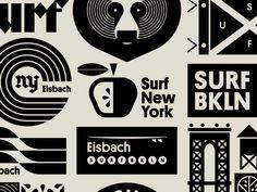 Eisbach pt. XI by Jay Fletcher on Dribbble Brand Identity Design, Branding Design, Logo Design, Graphic Design, New Year Illustration, Sullivans Island, New York, Great Logos, Job Opening