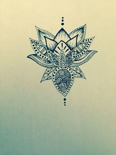 Lotus flower drawing sharpie