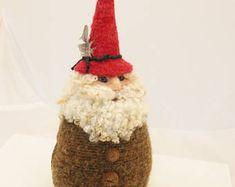 Gnome, naald vilten Gnome, Tuin Gnome, vilten Gnome, Forest Gnome # 2762