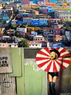 Valparaiso with Umbrella Girl Vacation Trips, Vacation Spots, Patagonia, Places To Travel, Places To Visit, Chili, Travel Log, The Beautiful Country, End Of The World