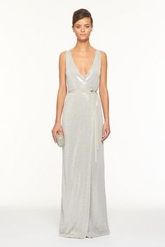 David meister one shoulder dress metallic sequin lace yazhi sequined gown by dvf this would make a gorgeous wedding gown junglespirit Choice Image