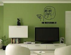 Troll Face Decor Wall Mural Vinyl Decal Sticker AL467