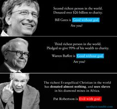 bill gates atheists are good without god