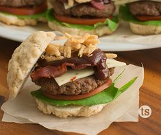 Cowboy Slider - No More Boring Buns Cowboy Burger, Tastefully Simple Recipes, French Fried Onions, Smoky Bacon, Slider Buns, Bbq Bacon, Crispy Onions, Barbecue Sauce, Melted Cheese