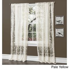 Lush Decor Anya 84-inch Sheer Curtain Panel Pair - Overstock™ Shopping - Great Deals on Lush Decor Sheer Curtains