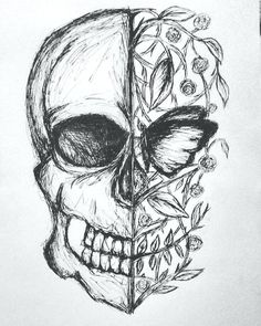 easy to sketch flowers – golfpachucacom sketch drawing easy - Sketch Drawing Dark Art Drawings, Pencil Art Drawings, Beautiful Drawings, Art Drawings Sketches, Drawing Sketches, Skull Drawings, Sketching, Sketch Art, Drawings About Love