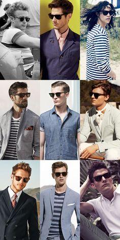 Men's 1950s-Inspired Summer Style : Sunglasses Lookbook Inspiration
