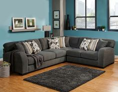navy blue living room furniture royal blue wesley sect charcoal pc wesley collection charcoal color fabric upholstered sectional sofa with rounded arms decorating brown furniture on blue and living room3