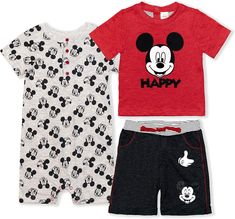 Boys Summer Outfits, Toddler Outfits, Baby Boy Outfits, Mickey Shorts, Mickey Mouse Outfit, Disney Outfits, Disney Clothes, Cool Baby Clothes, Disney Boys