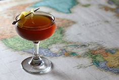 The French Intervention: El Espolòn Tequila Blanco, Cynar, St. Germain, Angostura bitters, lemon twist
