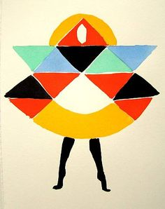 Beautiful sketch by Sonia Delaunay. I love her textile design work.