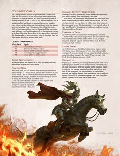 Blazing Dawn Player's Companion - The Courage Domain. Live fearlessly and fight against the odds! Dungeons And Dragons Classes, Dungeons And Dragons Homebrew, Cleric Domains, Dnd Cleric, Dnd Classes, Dnd 5e Homebrew, Dnd Monsters, Dnd Characters, Archetypes
