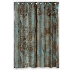 Curtain: Wooden Curtain Around The Bathroom from Different Look With Rustic Shower Curtains