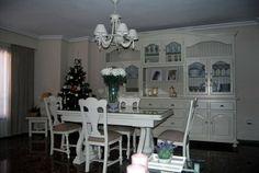 antes y después muebles rusticos pino