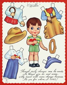 (⑅ ॣ•͈ᴗ•͈ ॣ)♡                                                     More paper dolls Vintage Valentine paper doll