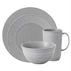 Simplicity Gray China Dinnerware By Vera Wang China, Place Setting, Plates, Bowls, Cups, Dinnerware #minimalist #tableware #farmhouse #weddingregistry