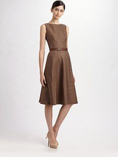 akris silk shantung dress