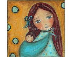 Canción de cuna  madre y niño  reproducción de por FlorLarios