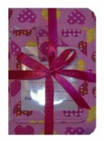 Pink Hearts Passport Cover and Luggage Tag Gift Set