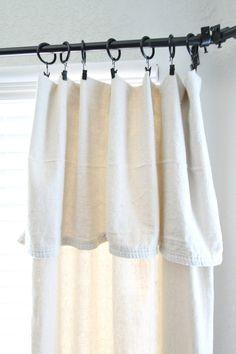 DIY Canvas Drop Cloth Curtains   Easy DIY   Home Decor   Drop Cloth   Farmhouse Style   Fixer Upper