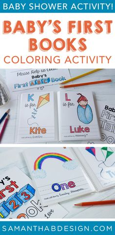 Color An ABC Book And Have Guests Sign Their Page Makes A Great Guest Too More Than 26 Get Babys First 123