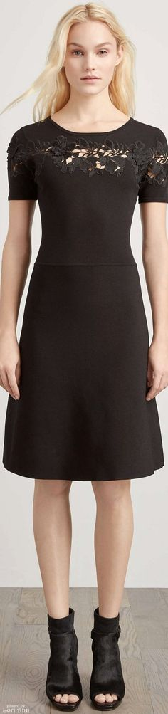 Elie Tahari Pre-Fall 2016 women fashion outfit clothing style apparel @roressclothes closet ideas