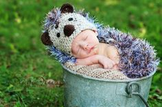 When I have a kid, someone NEEDS to make me this! Crochet HedgeHog Hat with Critter Cape PDF by MagicRabbitPatterns, $4.75