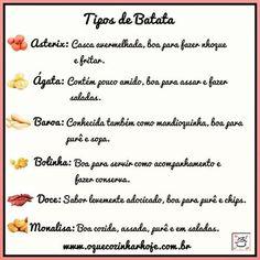 www.oquecozinharhoje.com.br  #receita #receitas  #comida #foodstagram  #cozinha #cozinhar #oquecozinhar #oqcozinharhoje #gastronomia #foodblogger #instacook #instafood #food #foodblog #foodporn #foodie #foodgasm #culinaria #culinary #foodpics #dicas  #dicasculinarias #batata #tiposdebatata  #batatas
