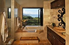 Luxury Bathroom Design at Your Luxury Dream Home for Holiday in Costa Rica - Casa Big Sur with Balinese-Style
