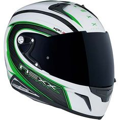 """Nexx XR1R Carbon Speed motorcycle helmet, in White/Green, described by MCN as """"The Best Road Helmet I've Worn"""". Available from ForMotorbikes.com with FREE UK delivery and worldwide shipping."""