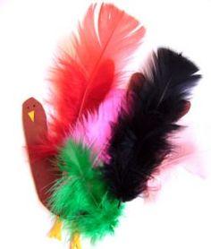 Feather Turkey Handprint Craft