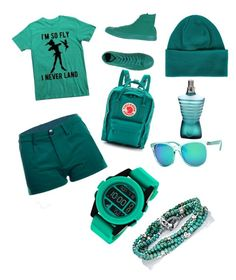 """All aqua"" by sjmd16 on Polyvore featuring Converse, Fjällräven, Nixon, M. Cohen, Polar and Y-3"