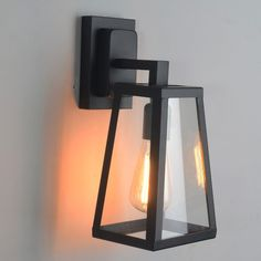 Antique Matte Black Lantern Outdoor Wall Sconce - Outdoor Wall Lights - Wall Lights - Lighting