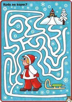 Winter Activities For Kids, Winter Crafts For Kids, Mazes For Kids Printable, Worksheets For Kids, Maze Worksheet, File Folder Activities, Maze Puzzles, Preschool Writing, Infant Activities