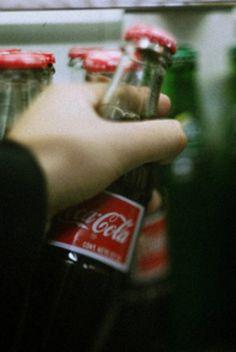 coke in a bottle - what a pleasure.