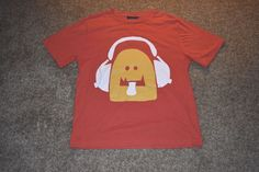 Mini Boden Boys Red Yellow T Shirt Monster Headphones Size 11-12y #MiniBoden #Everyday