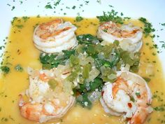 Spicy Tiger Prawns withSpinach in Butter, White Wine, Onions, Jalapeno, and Garlic. | Yelp