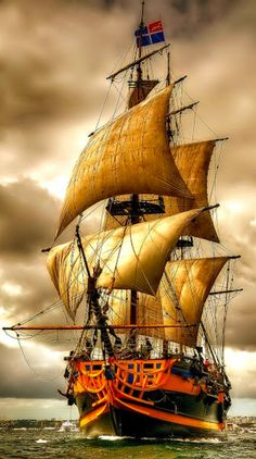 Sailing Ship Digital Art - Queen of the Sea by Mario Carini Ship Tattoo Sleeves, Tall Ships Festival, Pirate Art, Pirate Ships, Pirate Crafts, Bateau Pirate, Old Sailing Ships, Ship Drawing, Ship Paintings