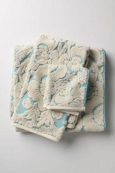 Anthropologie- Perpetual Blooms Towels  www.anthropologie.com