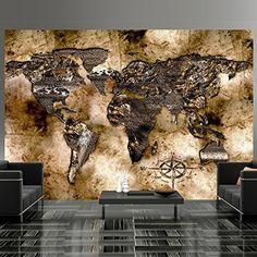 Vlies Fototapete 300x210 cm - 3 Farben zur Auswahl - Top - Tapete - Wandbilder XXL - Wandbild - Bild - Fototapeten - Tapeten - Wandtapete - Wand - Weltkarte k-A-0002-a-c