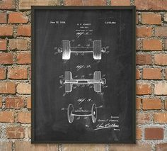 Dumbbells Patent Wall Art Poster - Gymnasium - Gym - Keep Fit - Weightlifting - Fitness Art Print  This dumbbell patent poster is printed using high quality archival inks on heavy-weight archival paper with a smooth matte finish. A fantastic gift or a fabulous addition to your home!  Please choose between different colors and sizes.  ---------------------------------------------------------------------------------------------  FLAT RATE SHIPPING: Any additional prints in the same order at NO…