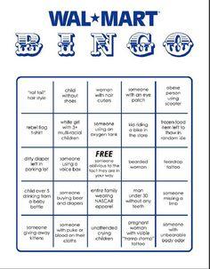Wal-Mart Bingo