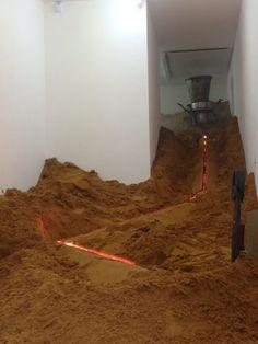 Artist Raphael Hefti Turns Gallery Into A 19th Century Metal Factory.