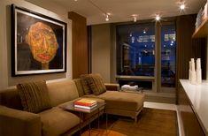 Uso eficiente do espaço em um apartamento de 55 metros quadrados - limaonagua