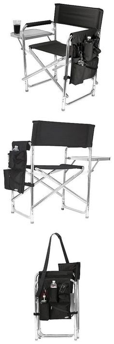 Camping Furniture 16038: Picnic Time Sports Chair With Table And Pockets - Black -> BUY IT NOW ONLY: $79.99 on eBay!