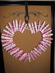 Clothes Peg Valentine Wreath - Clean and Scentsible