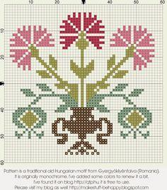 Σχέδια με γαρύφαλλα για κέντημα /Carnation cross stitch patterns
