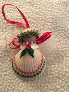 Shell Handmade Angel Christmas Ornament